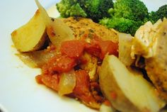 Weight Watchers Recipes With Points Plus - Low Calorie Recipes Online - LaaLoosh Chipotle stewed chicken, potatoes and tomatoes