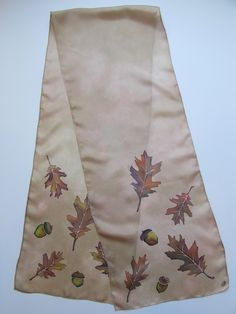 """Mighty Oak"" - Hand-dyed Silk Scarf $85"