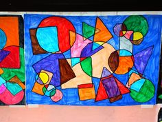 Artist: Kandinsky I think I'll do this with my Kinders when we do shapes :) great creative art activity