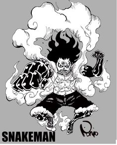 One Piece Gear 4, One Piece Ace, One Piece Luffy, Manga Anime One Piece, Me Anime, Luffy Gear 4, Black And White One Piece, Chibi Marvel, Cool Anime Wallpapers