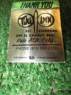 vintage TIKI INN Palo Alto, Calif matchbook kitschy souvenir COLOR TV #KOOKYKITSCH