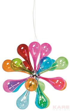 Pendant Lamp Drops Rainbow 12 Lights