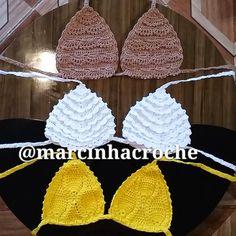 Marcinha crochê: Biquínis e body de croche