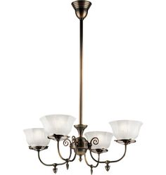 Hoyt Late Victorian Gas-Style Chandelier