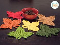 Crochet Pattern PDF for making a Maple Leaf Applique