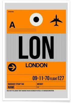 LON-London - Naxart - Premium Poster