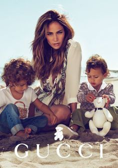 jlos twins   Jlo-kids-gucci [ J.Lo & Twins in New Gucci Ad Campaign ]