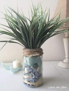 DIY Coastal Jar Across the Blvd