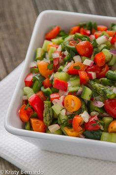 skinny chopped veggie salad.... make a big bowl at the beginning of the week and then dress it with different dressings each day for a healthy lunch add-on