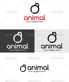 Cat Logo - Animals Logo Templates   Font: Comfortaa