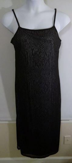 Express Black White Snake Skin Layered Sleeveless Dress Women's Plus Size 13/14 #Express #Maxi #Casual