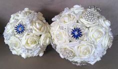 #Bridesmaids & #Brides #bouquets together.. #broochbouquets #weddingflowers #bridalflowers #bridalbouqets #wedding #flowers #bride #brides #bridal