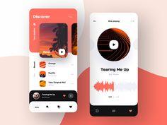 Music app UI case 2 by Julia on Dribbble Web Design Mobile, App Ui Design, Interface Design, Flat Design, Design Web, Box Design, User Interface, App Design Inspiration, Application Design