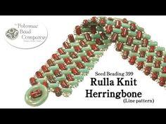 Make a Rulla Knit Herringbone Bracelet (Line Pattern)