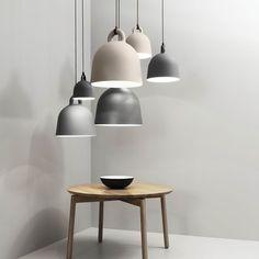 Normann Copenhagen Lampe / Hängeleuchte Bell grau Ø35