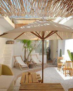Outdoor Seating, Outdoor Spaces, Outdoor Living, Outdoor Decor, Garden Villa, Rooftop Garden, Zen, Terrace Design, White Houses