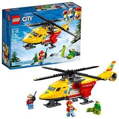 NEW LEGO City Great Vehicles Ambulance Helicopter 60179 Building Kit (190 Piece) #LEGO
