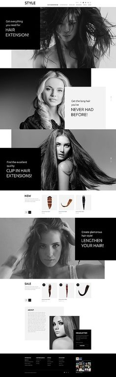 Hair and Beauty Salon OpenCart Template Hair & Beauty Salon OpenCart Template www. Website Design Inspiration, Natural Hair Growth Remedies, Webdesign Inspiration, Mobile Web Design, Glamorous Hair, Hair And Beauty Salon, Website Layout, Branding, Salons