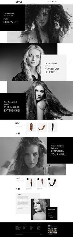 Template 54746 - Charm Hair Responsive OpenCart Template