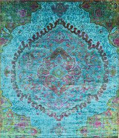 Crazy beautiful Aquasilk rugs at ABC Carpet