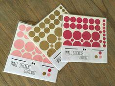 Stippen muursticker set in 4 verschillende kleuren