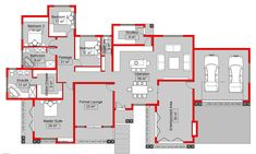 Remarkable south african 4 bedroom house plans — house style and plans : the house plan House Plans Uk, House Plans With Photos, 4 Bedroom House Plans, Family House Plans, Dream House Plans, House Floor Plans, Home Design Plans, Plan Design, House Plans South Africa