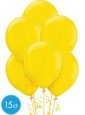 Sunburst Yellow Latex Balloons 12in 15ct - Party City