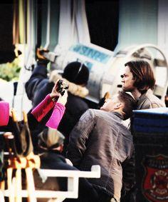 J2 being adorable on set. <3 #SupernaturalCast