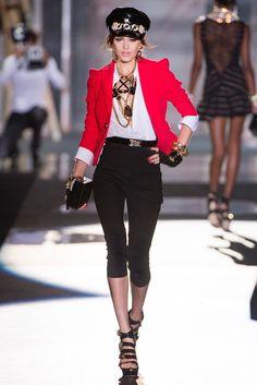 Dsquared² Spring 2013 Ready-to-Wear Collection - Vogue Fashion Week Paris, Milano Fashion Week, Runway Fashion, Milan Fashion, Fashion Spring, Love Fashion, High Fashion, Fashion Show, Fashion Outfits