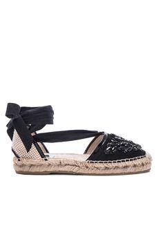 OSCAR DE LA RENTA Adriana Crystal Embroidery Espadrilles. #oscardelarenta #shoes #