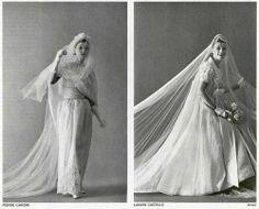 LANVIN , PIERRE CARDIN WEDDING DRESS  1962
