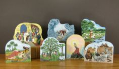 """Bible Stories to share. Made from 3/4"""" wood with colorful print on front and the Bible story on the back. These and many more can be found at catsmeow.com"""