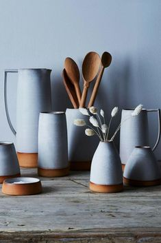 Handthrown Ceramic Dipped Pitchers #homedecoratingkitchen