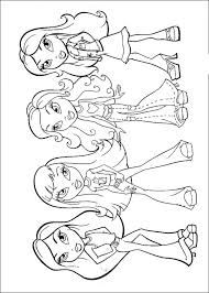 billedresultat for bratz coloring pages