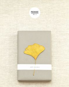 Add a painted leaf to your next gift wrapped package