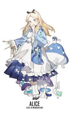 @STARshadowmagic Kimono Disney Princess Fanart - Alice
