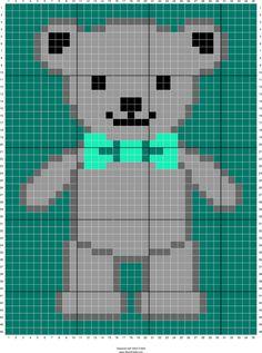 Bear teddy cross stitch.