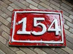 Výsledek obrázku pro číslo popisné keramické
