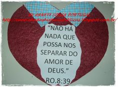 CANTINHO DAS HISTÓRIAS BÍBLICAS: VERSÍCULO BÍBLICO VISUALIZADO ROMANOS 8:39