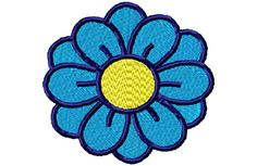 Blue Flower Embroidery Design by SewMeSomeStitches on Etsy