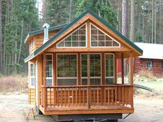 RPC | Rich's Portable Cabins Puget Sound Model -- click for website with more pictures of this cabin on wheels with floor plan. Many more models available.