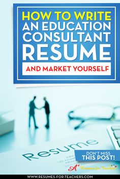 The role of Education Consultant is becoming increasingly popular in the field of education. You need to ensure your education consultant resume meets the needs of the applicant tracking systems and the reader. This post should help you with your job search as a consultant in education. http://resumes-for-teachers.com/blog/teachers-resume/write-education-consultant-resume-market