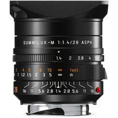 Leica 28mm f/1.4 SUMMILUX-M Aspherical, Manual Focus (6-Bit Coded) Lens for M System - Black