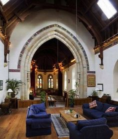 18th century English church converted into a home (Oh my goodness... I can't even imagine living somewhere like this. It would be so beautiful and majestic.)