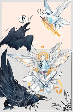 More Birb Omens ^^ Including Angelic for and Demon for for them! Character Concept, Character Art, Concept Art, Pretty Art, Cute Art, Animal Drawings, Cool Drawings, Creature Design, Character Design Inspiration