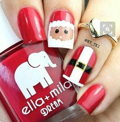 Immagine di nails, christmas, and red