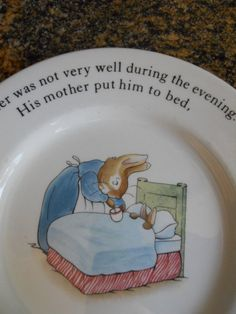 Vintage Wedgwood Peter Rabbit Plate Made in by SlyfieldandSime, $16.00