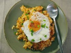 Kimchi Fried Rice by Judy Joo: Cooking Channel. Just as a note, the Cooking Channel website doesn't render very well on phones. But this recipe is absolutely worth the effort of looking at it on a tablet or computer.