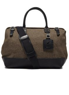 olive and denim carryall