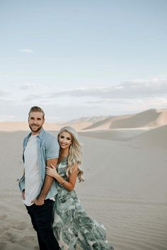 This desert engagement is so stunning, and they have the most adorable love story!